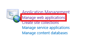 manage web applications