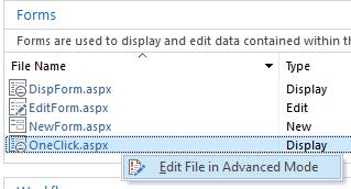 edit file in advanced