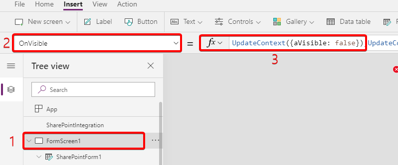 Show/hide fields conditionally in PowerApps forms based on dropdown